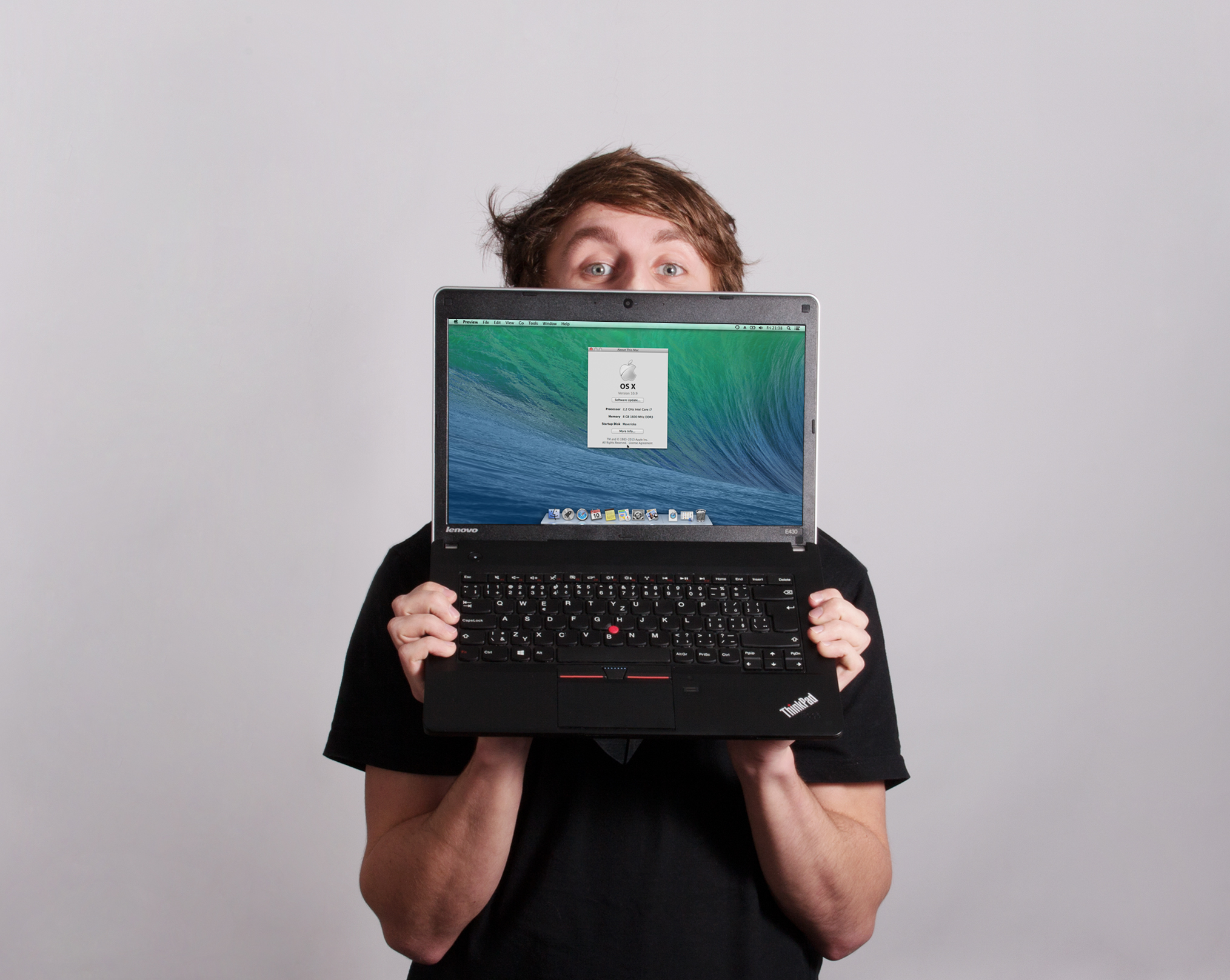 I'm hiding behind my laptop, you can't see me, I can't see you.